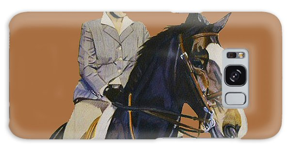 Concentration - Hunter Jumper Horse And Rider Galaxy Case by Patricia Barmatz
