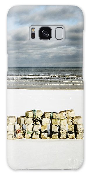 Concrete Bricks On A Snowy Beach Galaxy Case