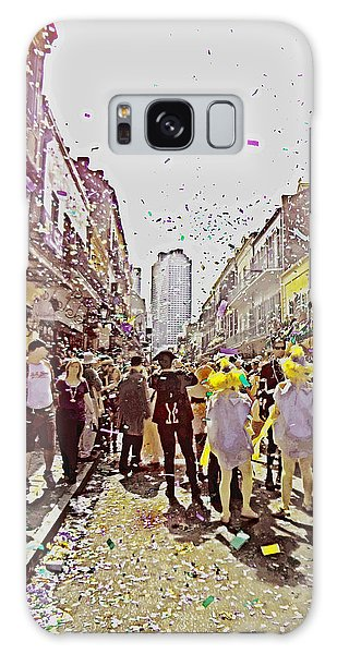 Confetti Sky On Mardi Gras Day In New Orleans Galaxy Case