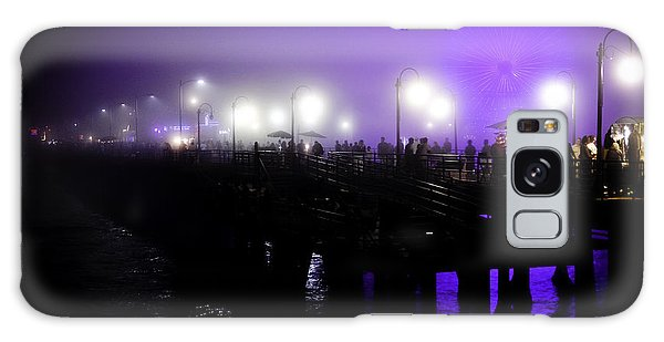 Cool Night At Santa Monica Pier Galaxy Case by Clayton Bruster