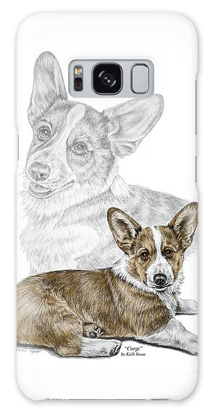 Corgi Dog Art Print Color Tinted Galaxy Case by Kelli Swan