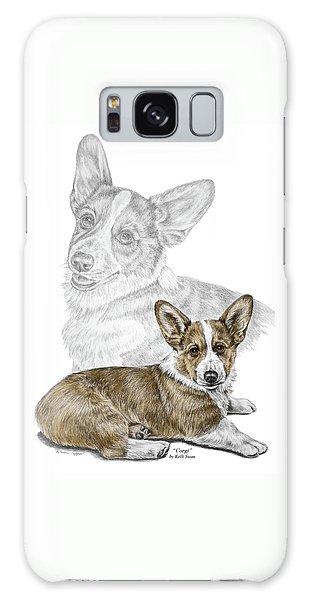 Corgi Dog Art Print Color Tinted Galaxy Case
