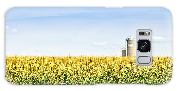 Corn Field With Silos Galaxy S8 Case