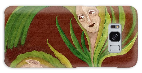 Corn Love Fantastic Realism Faces In Green Corn Leaves Sleeping Or Dead Loving Or Mourning Gree Galaxy Case