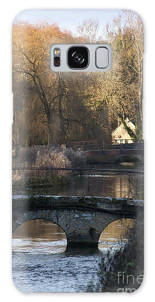 Cotswold River Scene Galaxy Case