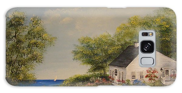 Cottage By The Lake Galaxy Case