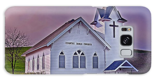 Country Church At Sunset Art Prints Galaxy Case by Valerie Garner