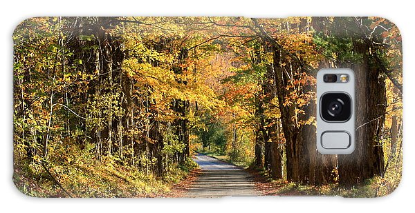 Country Roads In Autumn Galaxy Case by Robin Regan
