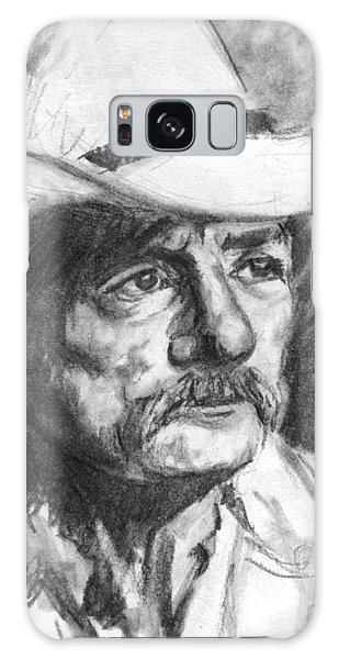 Cowboy In Hat Sketch Galaxy Case