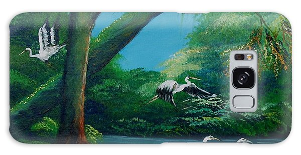 Cranes On The Swamp Galaxy Case