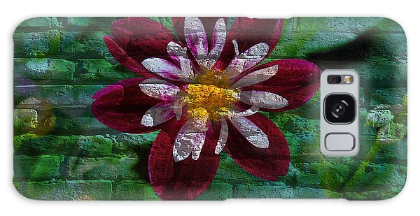 Crazy Flower Over Brick Galaxy Case by Eric Liller