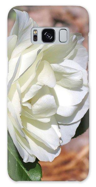 Cream White Rose  Galaxy Case by Rebecca Overton
