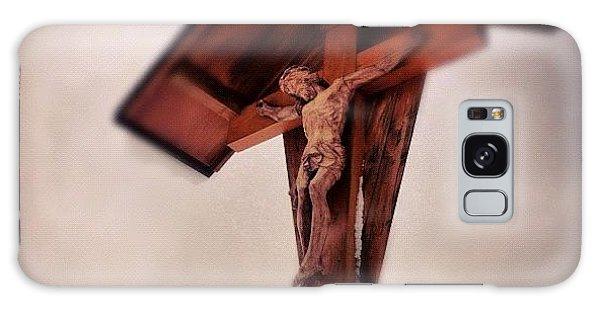 Religious Galaxy Case - Crucifix by Matthias Hauser