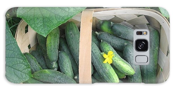 Cucumbers In Garden Basket Galaxy Case