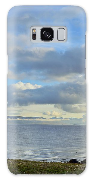 Cumulus Clouds Sea And Mountains Reykjavik Iceland Galaxy Case by Marianne Campolongo
