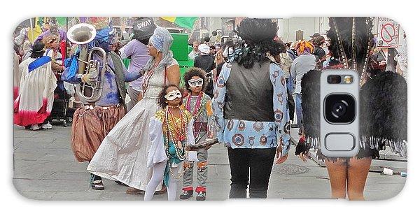 Curious Children On Mardi Gras In New Orleans Galaxy Case
