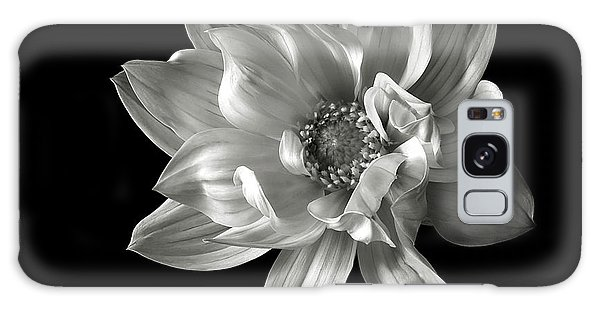 Dahlia In Black And White Galaxy Case