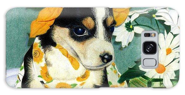 Daisy-mae Dawg Galaxy Case by Ana Tirolese