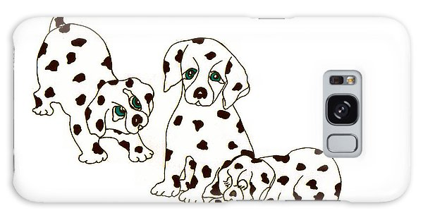 Dalmatian Puppies Galaxy Case