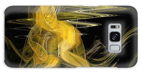Dance Of Waves Galaxy Case by Sipo Liimatainen