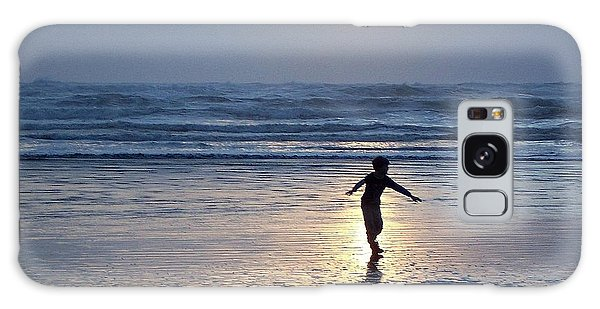 Dancing Boy At Sunset Galaxy Case by Peter Mooyman