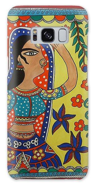 Madhubani Galaxy Case - Dancing Woman by Shakhenabat Kasana
