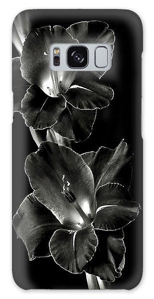 Dark Gladiolas In Black And White Galaxy Case