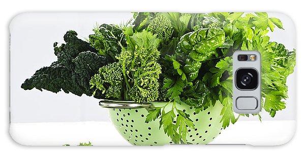 Dark Green Leafy Vegetables In Colander Galaxy Case