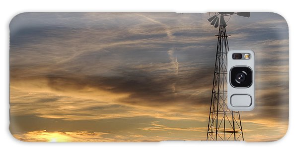 Dark Sunset With Windmill Galaxy Case by Art Whitton