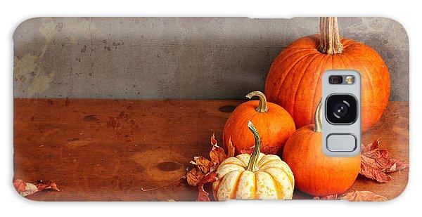 Decorative Fall Pumpkins Galaxy Case by Verena Matthew
