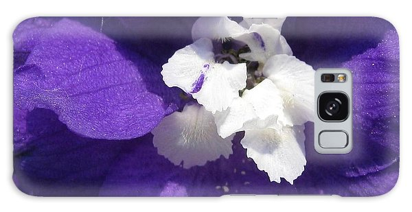 Delphinium Named Blue With White Bee Galaxy Case by J McCombie