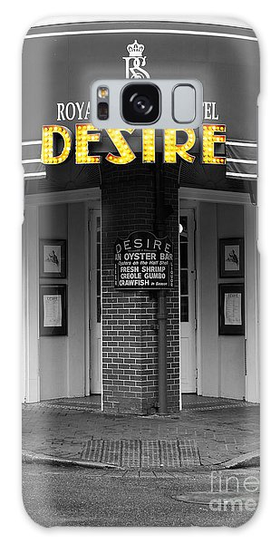 Desire Corner Bourbon Street French Quarter New Orleans Color Splash Black And White Digital Art  Galaxy Case