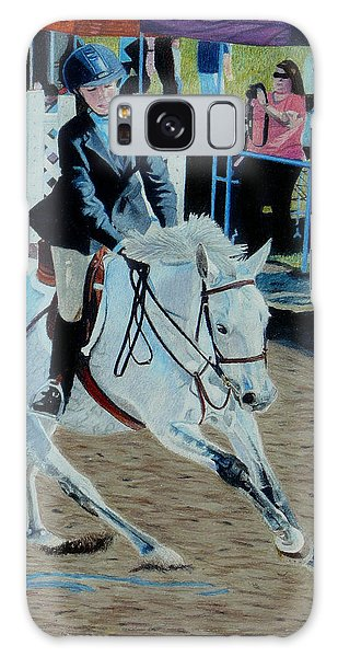 Determination - Horse And Rider - Horseshow Painting Galaxy Case by Patricia Barmatz