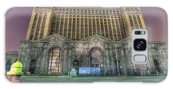 Detroit's Michigan Central Station - Michigan Central Depot Galaxy Case by Nicholas  Grunas