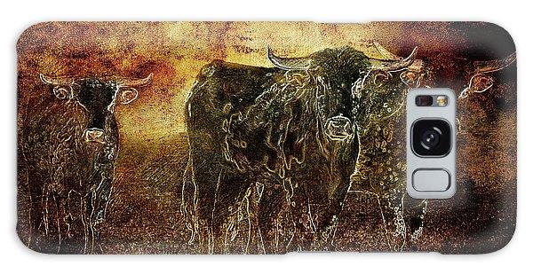 Devil's Herd - Texas Longhorn Cattle Galaxy Case