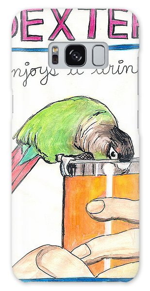 Dexter Enjoys A Drink Galaxy Case by Ana Tirolese