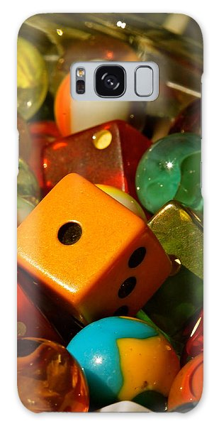Dice And Marbles Galaxy Case by Michael Cinnamond