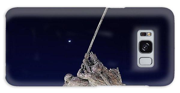 Digital Drawing - Iwo Jima Memorial At Dusk Galaxy Case
