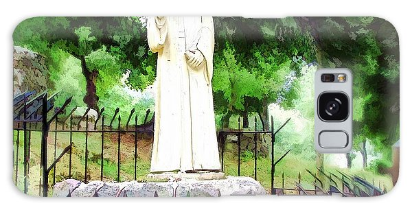 Do-00541 St Charbel Statue Galaxy Case by Digital Oil