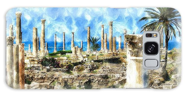 Do-00550 Ruins And Columns Galaxy Case by Digital Oil