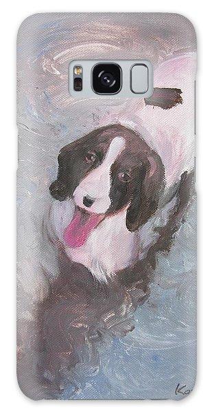 Dog In River Galaxy Case