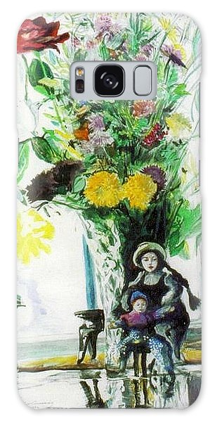 Dolls And Flowers Galaxy Case
