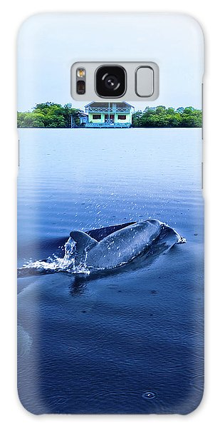 Dolphins By The Mangrove House Galaxy Case