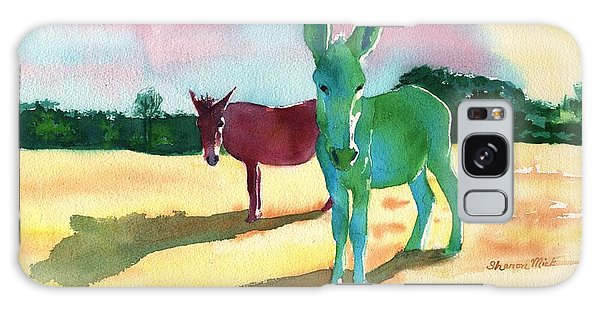 Donkeys With An Attitude Galaxy Case by Sharon Mick