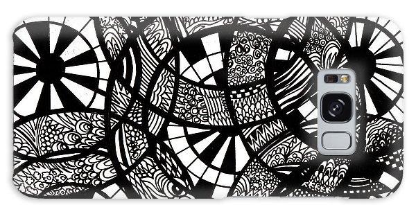 Galaxy Case - Doodle Circular  by Karen Elzinga