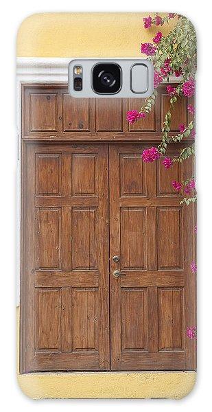 Door With Flowers Galaxy Case