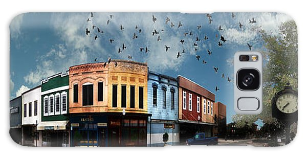 Front Galaxy Case - Downtown Bryan Texas 360 Panorama by Nikki Marie Smith