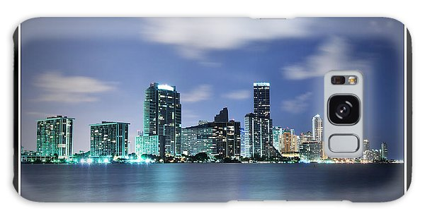 Downtown Miami At Night Galaxy Case by Carsten Reisinger