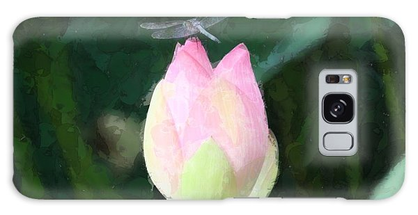 Dragonfly On Water Lily Galaxy Case