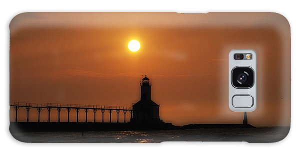 Dreamy Sunset At The Lighthouse Galaxy Case